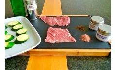 Gaumenkitzler vom Iberico Schwein mit Zucchini